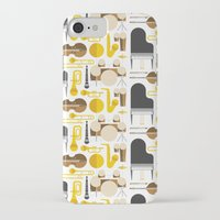mortal instruments iPhone & iPod Cases featuring Jazz instruments by Ana Linea
