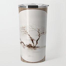 Scots Pine Paper Bag Sepia Travel Mug
