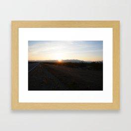 Desert Sunrise Framed Art Print