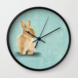 Portrait of a little bunny Wall Clock
