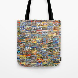 Greetings From Postcards Tote Bag