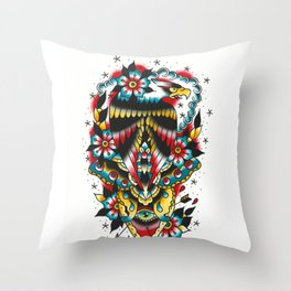 Eagle and eyes Throw Pillow