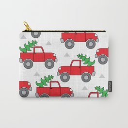 red trucks and christmas trees Carry-All Pouch