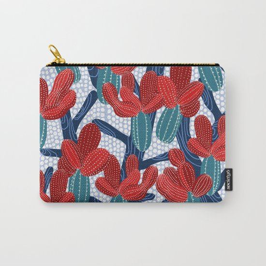 Winter Cactus Carry-All Pouch