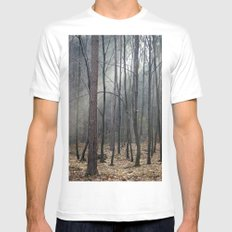 Magical winter light White Mens Fitted Tee MEDIUM