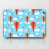 hot air balloons iPad Cases featuring Hot Air Balloons by velourvelvet
