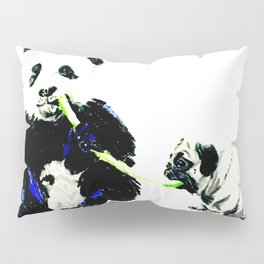 Pug and Panda Pillow Sham