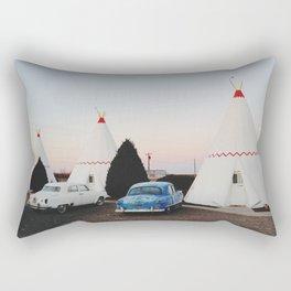 Wigwam Motel Rectangular Pillow