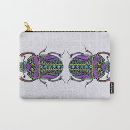 Egyptian Scarab Beetle - Silver & color metallic Carry-All Pouch