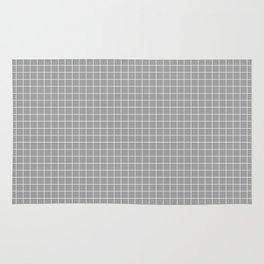 Grey Grid White Line Rug