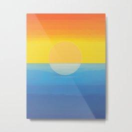 Sunset - Every Time We Say Goodbye Metal Print