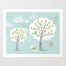 Windy Day Art Print