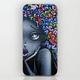 girl letters grafitti iPhone Skin