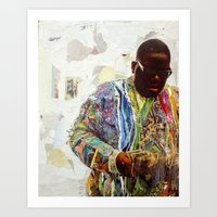 biggie Art Prints featuring Biggie by Katy Hirschfeld