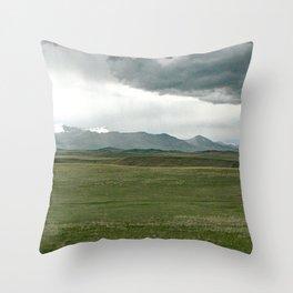 Rocky Mountain Front Throw Pillow