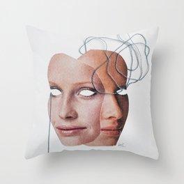 Left Brain - Right Brain Throw Pillow
