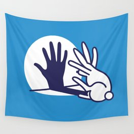 hand shadow rabbit Wall Tapestry