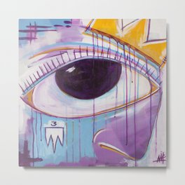 Untitled Eye & Crown Metal Print