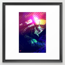 Submerged Sunrise Framed Art Print