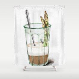 La Cuisine Fusion - Aspargus Latte Shower Curtain