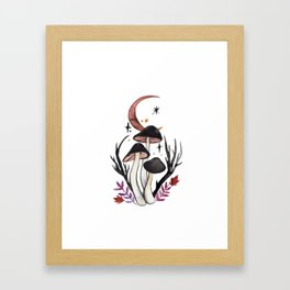 Potion Mushrooms Framed Art Print