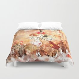 Love gives you Wings Duvet Cover