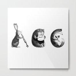 Woodland Animals (ABC) Metal Print
