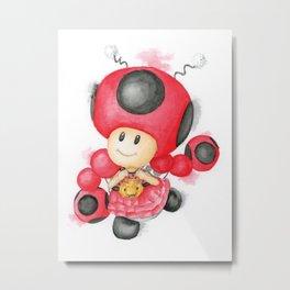 Toadette Ladybug Metal Print