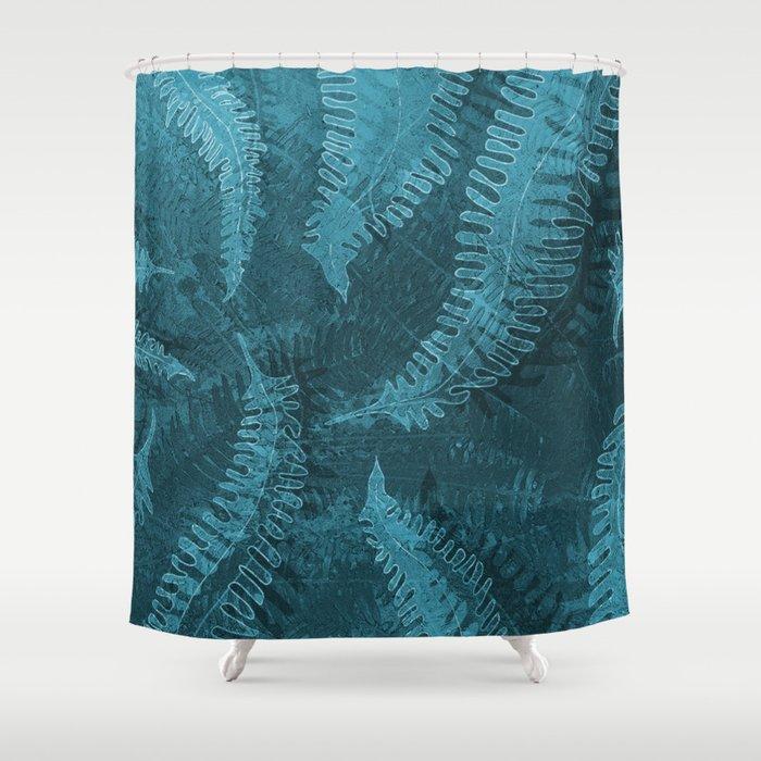 Ferns (light) abstract design Shower Curtain