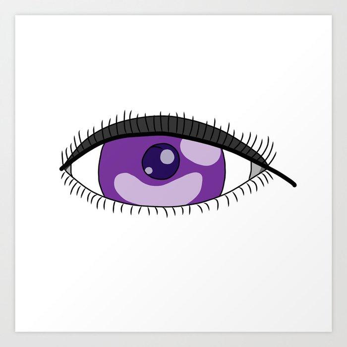 Purple Eye Art Print