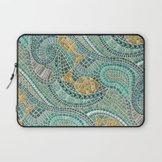 mosaic fish mint Laptop Sleeve