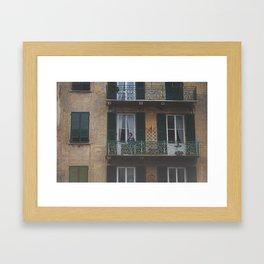 ITALY BALCONY Framed Art Print