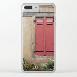 Red Shutters - travel photography Clear iPhone Case
