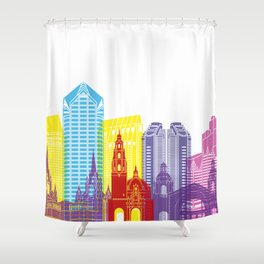 San Diego skyline pop Shower Curtain