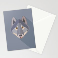 Gray wolf Stationery Cards