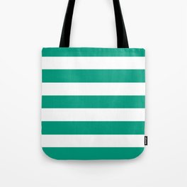 Paolo Veronese green - solid color - white stripes pattern Tote Bag