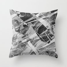 Marble X Throw Pillow