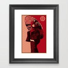 ASIAN WOMAN Framed Art Print