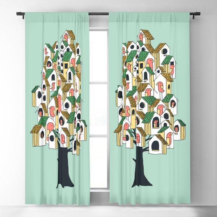 Bird houses Blackout Curtain