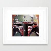 boba fett Framed Art Prints featuring Boba Fett by Mel Hampson