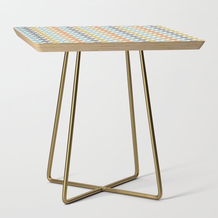 Retro Circles Mid Century Modern Background Side Table