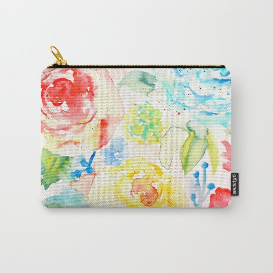 Abstract Flowers 06 Carry-All Pouch