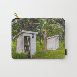 Outhouses at the Church, North Dakota 3 Carry-All Pouch