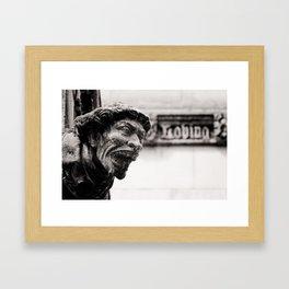 Loving gargoyle Framed Art Print