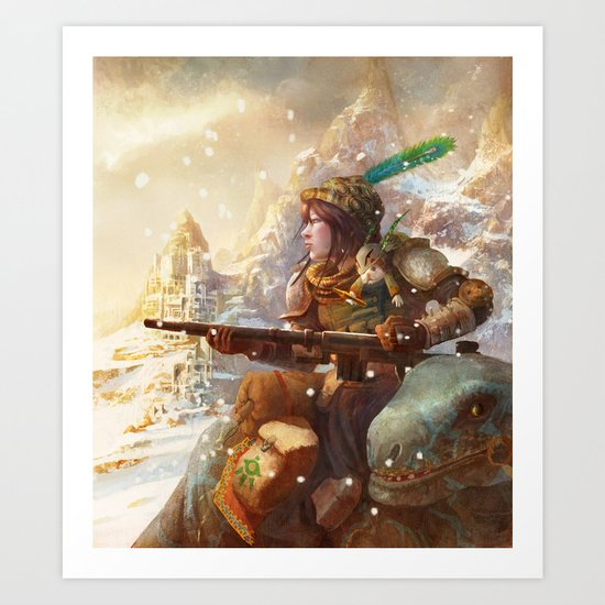 Dragoon legend  Art Print