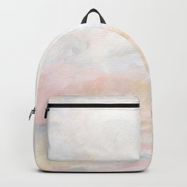 Ecstatic - Pink and Yellow Pastel Seascape Backpack