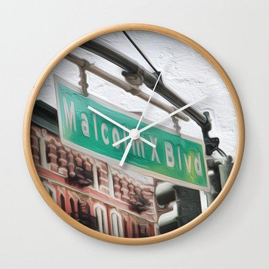 Malcom X Blvd Wall Clock