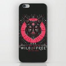 Wild & Free Wolf – Pink & Black Palette iPhone Skin