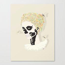 Skull Arlequin Canvas Print