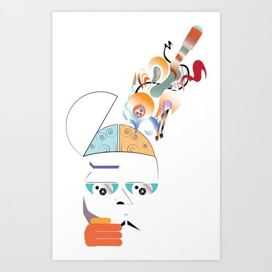 Art On The Brain Art Print